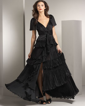Diane von Furstenberg Pleated Gown :  chic dresses evening evening gown