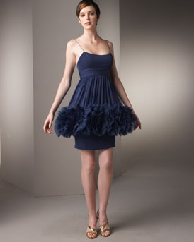 Ruffled Slip Dress -  Bergdorf Goodman :  marchesa fashion ruffles designer fashion