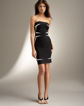 Herve Leger Elaine Strapless Dress :  chic womens herve leger dresses
