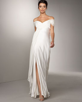 Marc Bouwer Glamit! Chiffon Draped Gown :  hollywood glamour gown womens dresses evening