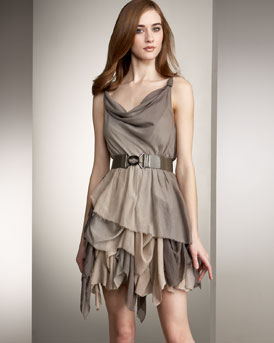 Alice + Olivia Knotted Dress :  chic womens dresses evening
