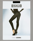 Wolford - Lingerie  -  Bergdorf Goodman :  flash leggings flat-knit ribbed trim nantucket short-sleeve tee wolford