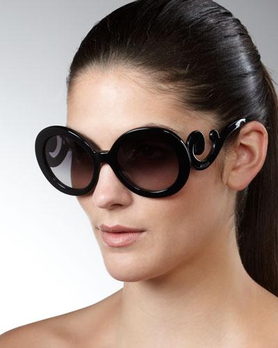 Gradient Round Scroll Sunglasses