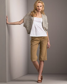 Theory - Cocoon Sweater and Cropped Pants -- Bergdorf Goodman Online