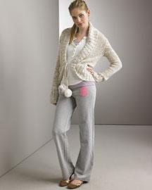 Juicy Couture- Cocoon Sweater & Logo Fleece Pants- Bergdorf Goodman from bergdorfgoodman.com
