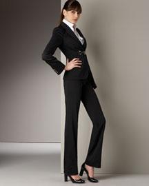 Dolce & Gabbana            Patent Vinyl Buckle-Detail Jacket & Flat-Front Pants-  Apparel-Bergdorf Goodman