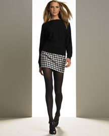 Michael Kors Dolman Sweater & Houndstooth Mini -  Tops -  Bergdorf Goodman