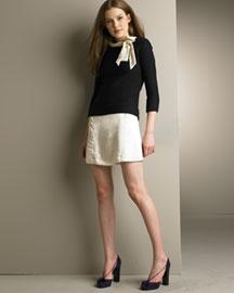 MARC by Marc Jacobs Wool Sweater & Satin Dress- Looks- Bergdorf Goodman