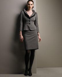 Armani Collezioni Orzo Check Suit- Armani Collezioni- Bergdorf Goodman :  wool armani collezioni espresso italy