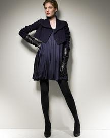 Doo.Ri             Ribbed Bolero & Jersey Halter Dress-     Doo.Ri-  Bergdorf Goodman
