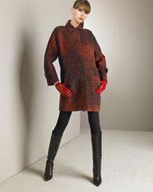 Piazza Sempione Printed Coat & Knit Tunic-Dress- Piazza Sempione- Bergdorf Goodman