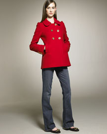 Juicy Couture Wool Coat -  Coats & Vests -  Bergdorf Goodman :  jacket juicy coats juicy couture
