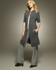 Bamford Long Wool Cardigan & Slim London Trousers -  Bamford -  Bergdorf Goodman