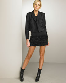 Stella McCartney Cropped Jacket & Ruffled-Hem Minidress -  Designer -  Bergdorf Goodman :  jacket italy dress minidress