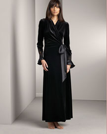 Jonquil            Velvet Robe & Satin Gown -   		For Her - 	Bergdorf Goodman