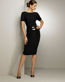 Donna Karan Collection Roll-Sleeve Top & Gathered Skirt