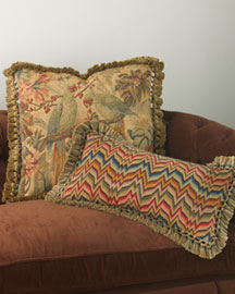 Parrot & Flamestitch Pillows -  Pillows & Throws -  Bergdorf Goodman :  pillow home throw decor