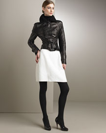 Narciso Rodriguez Motorcycle Jacket & Skirt -  Designer -  Bergdorf Goodman :  skirt favorites dress motorcycle jacket