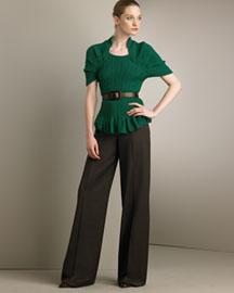 Oscar de la Renta Hand-Knit Cashmere Sweater & Barathea Pants- Designer- Bergdorf Goodman :  cashmere oscar de la renta sweater