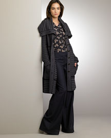 Stella McCartney Exaggerated Collar Coat & Slouch Pants -  Coats -  Bergdorf Goodman :  fall 09 coat fashion stella