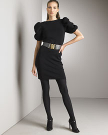 Fendi Architectural Knit Dress & Solitaire Belt -  Apparel -  Bergdorf Goodman :  luxe events womens clothing womens
