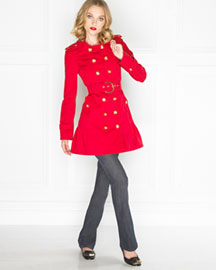 Juicy Couture Skirted Trench Coat & Rylie Camden Jeans -  Coats & Vests -  Bergdorf Goodman