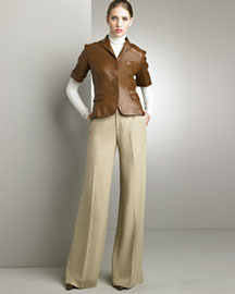 Ralph Lauren Black Label Tatum Jacket & Kelsey Herringbone Pants -  Black Label -  Bergdorf Goodman :  modern fall retro trendy