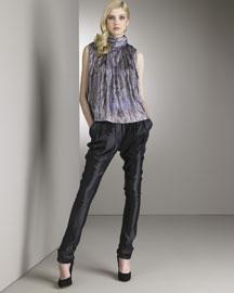 Nina Ricci Abstract-Print Blouse & Satin Pants- Designer- Bergdorf Goodman  from bergdorfgoodman.com