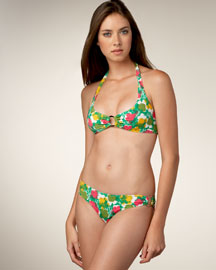 Diane Von Furstenberg Kate Floral Dress & Nicole Bikini -  Swimwear -  Bergdorf Goodman :  clothing swim halter multicolor