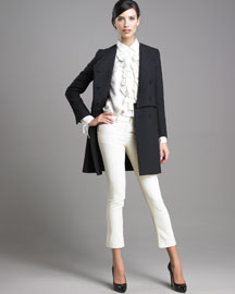 3.1 Phillip Lim Double-Flap Coat & Cropped Jeans :  coat jeans fall 2009