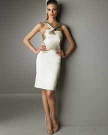 Dolce & Gabbana Halter Dress -  Dresses -  Bergdorf Goodman :  champagne dress gathered dresses