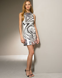 Emilio Pucci Printed Shift Dress -  Dresses -  Bergdorf Goodman :  shift italy dress silver paillettes