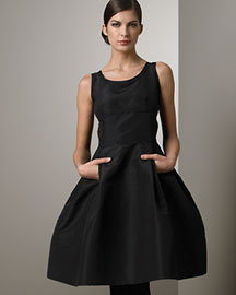 Oscar de la Renta Pleated Sleeveless Dress -  Oscar de la Renta -  Bergdorf Goodman :  oscar oscar de la renta little black dress oscar de la renta pleated sleeveless dress