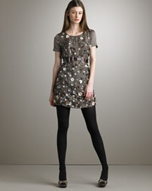 Stella McCartney Floral Satin Dress -  Bergdorf Goodman :  short sleeves satin cotto stella