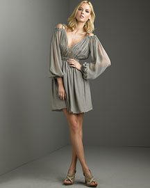 Philosophy di Alberta Ferretti Chiffon Dress -  Mini -  Bergdorf Goodman