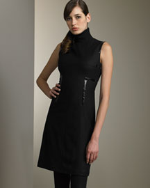 Akris Punto Knit Collar Dress -  Akris Punto -  Bergdorf Goodman :  black daywear mock akris punto