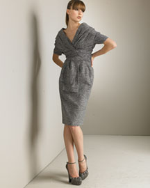 Dior Tweed Dress -  Cozy Knits -  Bergdorf Goodman