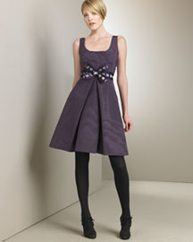 Carolina Herrera Taffeta Dress -  Dresses -  Bergdorf Goodman :  herrera purple sage dresses pleated