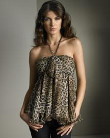 D&G Dolce & Gabbana            Leopard-Print Top :  halter top designer womens women