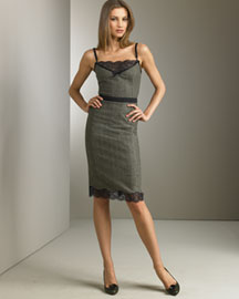 D&G Dolce & Gabbana Glenplaid Cami Dress -  European Contemporary -  Bergdorf Goodman :  mini d and g dolce and gabanna cami dress cami dress dolce and gabanna