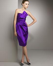 Philosophy di Alberta Ferretti Twist Front Dress- Short Sleeve- Bergdorf Goodman