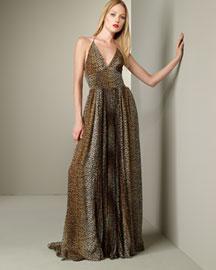 D&G Dolce & Gabbana            Leopard Halter Gown-  D&G Dolce & Gabbana-Bergdorf Goodman :  fashion womens d and g dg