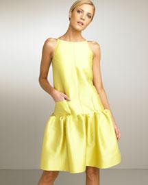 Oscar de la Renta             Drop-Waist Dress-     Oscar de la Renta-  Bergdorf Goodman       :  drop oscar waist renta