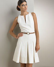 Akris Punto Belted Silk Dress -  Akris Punto -  Bergdorf Goodman :  akris womens summer bergdorf