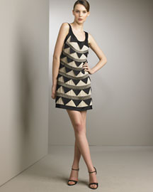 Temperley London Triangle Dress -  SoHo Chic -  Bergdorf Goodman :  chic bergdorf goodman dress triangle