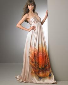Roberto Cavalli            Floral Gown-  Goddess-Bergdorf Goodman