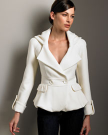 Armani Collezioni Double-Face Wool Jacket -  Pre-Fall -  Bergdorf Goodman :  wool armani armani collezioni bubble hem
