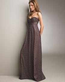 Missoni Pregio Strapless Gown -  Designer -  Bergdorf Goodman :  shopping womens clothing slip dress summer