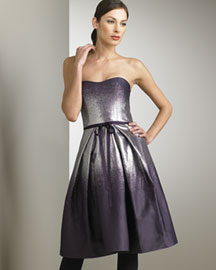 Carolina Herrera Lame Degrade Dress -  Designer -  Bergdorf Goodman :  fall fashion wear fall trend fall