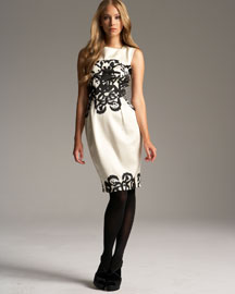 Yves Saint Laurent Arabesque-Print Dress -  Ready-To-Wear -  Bergdorf Goodman :  yv black sleeveless white